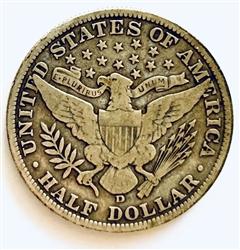 1906-D BARBER HALF DOLLAR 4 AVAILABLE 1st YR FOR BARBER HALVES FROM DENVER