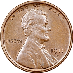 1911-D Wheat Penny