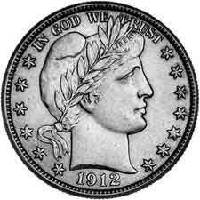 BARBER HALF DOLLAR IN 2X2 1912-D