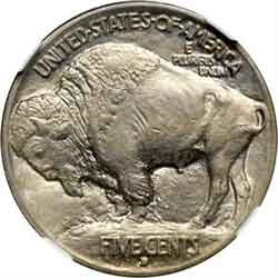 1913-D Type 1 Buffalo Head Nickel Coins