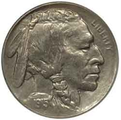 1915-S Buffalo Head Nickel Coins