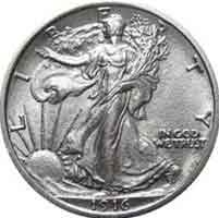 1916-S Walking Liberty Half Dollar