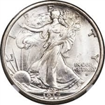 1917-D Obverse Walking Liberty Half Dollar