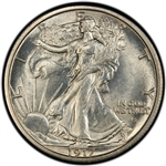 1917-S Obverse Walking Liberty Half Dollar