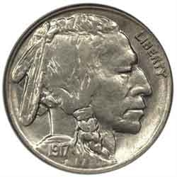 1917-S Buffalo Head Nickel Coins
