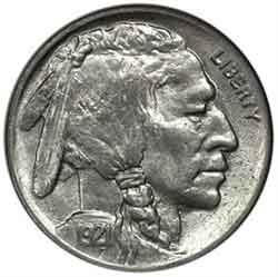 1921-P Buffalo Head Nickel Coins