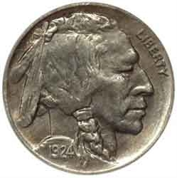 1924-D Buffalo Head Nickel Coins