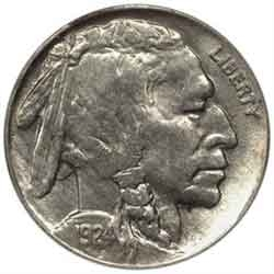 1924-P Buffalo Head Nickel Coins