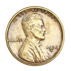 1930-S Wheat Penny