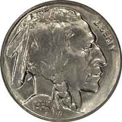 1934-D Buffalo Head Nickel Coins