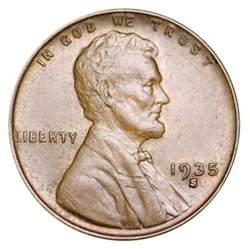 1935-S Wheat Penny