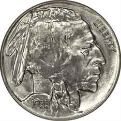 1935-P Buffalo Head Nickel Coins