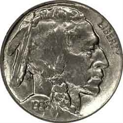 1936-D Buffalo Head Nickel Coins