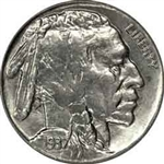 1937-P Buffalo Head Nickel Coins