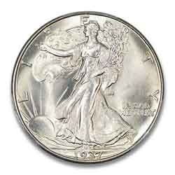 1937-P Walking Liberty Half Dollar