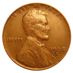 1938-D Wheat Penny