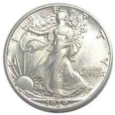 1939-S Walking Liberty Half Dollar