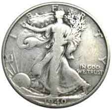 1940-S Walking Liberty Half Dollar