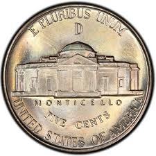 Blazing Gem BU 1945-P Jefferson Silver War Nickel