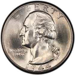 1944-D Washington Silver Quarter Uncertified AU