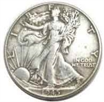 1945-P Walking Liberty Half Dollar