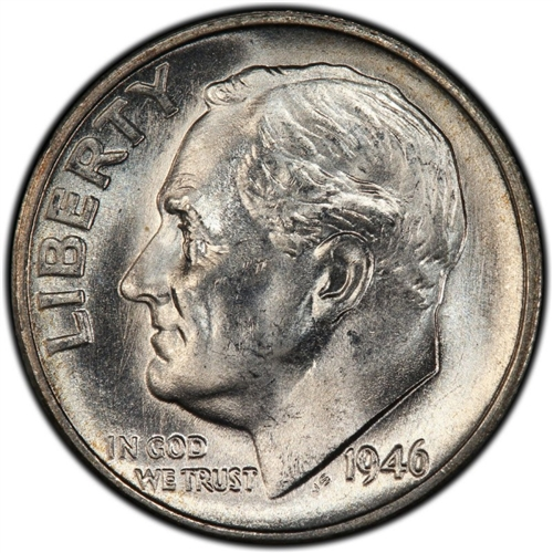 Bu 1946-P Roosevelt Dime