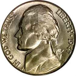 1947-D Jefferson Nickel