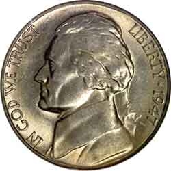 1947-S Jefferson Nickel