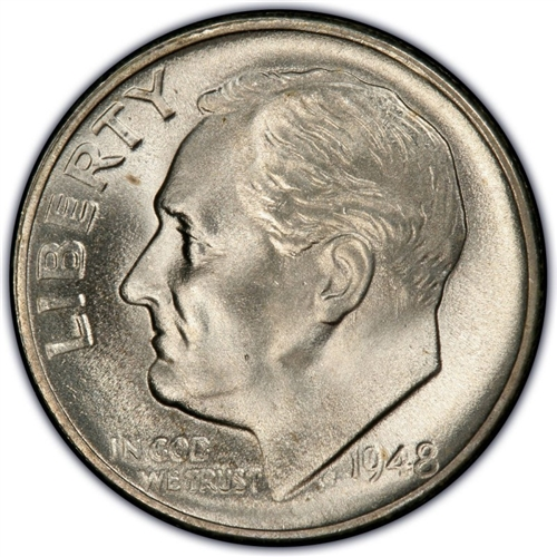 1948-S Silver Roosevelt Dime 1 dime from those pictured