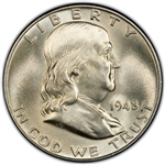 1948-P Franklin Half Dollar