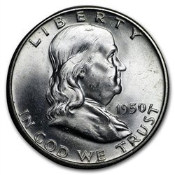 1950-P Franklin Half Dollar