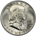 1951-P Franklin Half Dollar