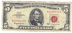 1963 $5 Red Seal Notes