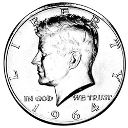 1964 Kennedy Half Dollar P Mint
