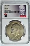 1971-D Eisenhower Dollars NGC MS65