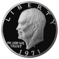 1971-S Eisenhower Silver Dollar Proof