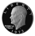 1973-S Silver Proof Eisenhower Dollars