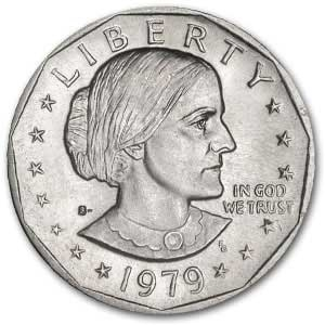 1979 Susan B Anthony Dollar Coin