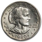 1980-S Susan B Anthony Dollar Coin