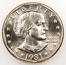 1981-D Susan B Anthony Dollar Coin