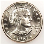 1981-P Susan B Anthony Dollar Coin