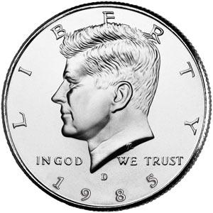 1985 Kennedy S Half Dollar Proof