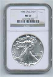 1988 American Silver Eagle NGC MS69