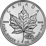 2000 Canadian 1 oz. Silver Maple Leaf - Fireworks Privy Mark