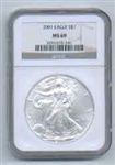 2001 American Silver Eagle NGC MS69