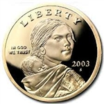 2003-S Proof Sacagawea Dollar