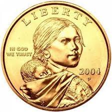 Sacagawea Coin 2004 P Sacagawea Dollar Golden Dollar Coins