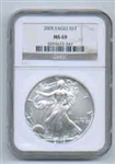 2005 American Silver Eagle NGC MS69