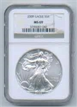 2009 American Silver Eagle NGC MS69