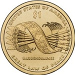 2010-P Native American Dollar Great Law of Peace